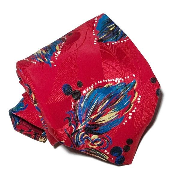 Brioni Other - Brioni Feather Floral Print Silk Tie W4 L<60